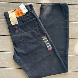 Men's Levi's 550 relaxed fit black jeans NWT